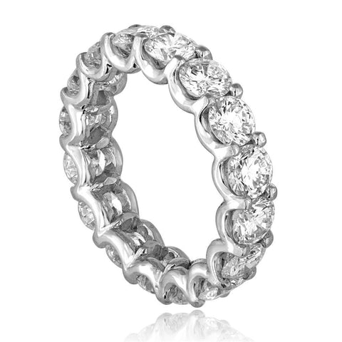 Ladies Round Brilliant Cut Diamond Eternity Wedding Band White Gold Eternity Band