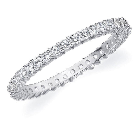 Ladies Round Diamond Engagement Band Ring White Gold 14K 4.40 Carats Eternity Band
