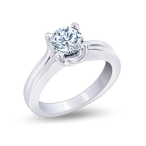 Large Huge Diamond Ring F Vs1 Diamond Solitaire Ring 2.25 Carat White Gold Solitaire Ring