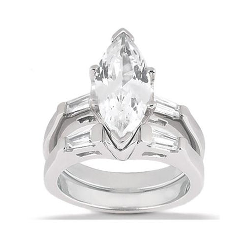 Marquise Cut Diamond Ring Engagement Set 3.50 Ct. Diamonds Engagement Ring Set