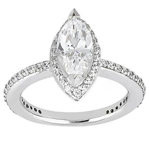 Marquise Cut Diamond Ring White Gold Jewelry 1.5 Carats Ring
