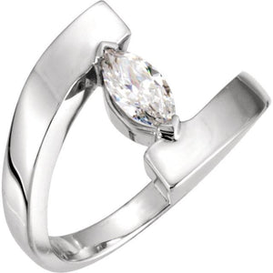 Marquise Diamond Engagement Ring White Gold 14K Size 7 Engagement Ring