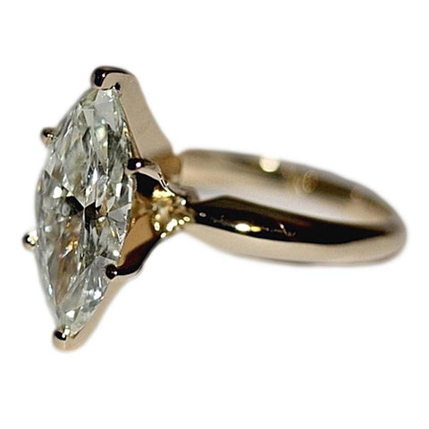 Marquise Diamond Solitaire Women Ring Huge Beautiful White Gold New 4 Ct. Solitaire Ring