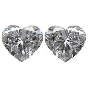 Matched Pair Of Loose Heart Shape Diamonds 2 Carat G Si1 Heart Cut Diamond Diamond