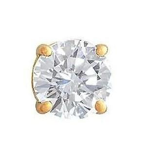 Men'S Jewelry Single Earring 1 Ct. Diamond Stud Earring Single Stud