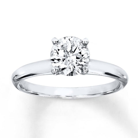 Natural Diamond Gorgeous Ring 1.50 Carats White Gold 14K Round Half Round Dome Shank Ring