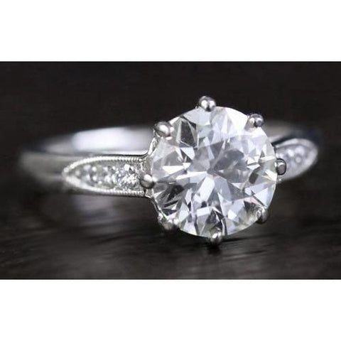 Old Mine Diamond Ring Engagement Ring