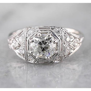 Old Miner Diamond Ring Engagement Ring