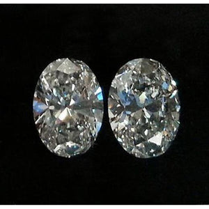 Oval Cut Loose Diamond 2.02 Carats G Vs1 Loose Diamond Pair Diamond