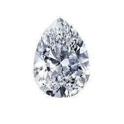 Pear Cut G Si1 Loose Diamond Sparkling 2 Carats Diamond