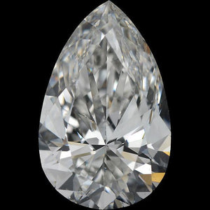 Pear Cut Natural G Si1 3.75 Carat Loose Diamond New Diamond