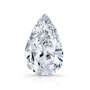 Pear Cut Sparkling 3.00 Carat Solitaire G Si1 Loose Diamond New Diamond