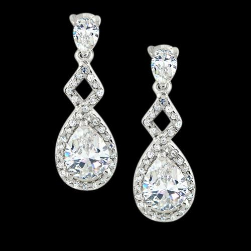 Pear Diamond Dangle Style 3.75 Carats Earring White Gold Earring New Dangle Earrings