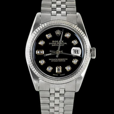 Perpetual Datejust Fluted Bezel Dial Rolex Men Watch Jubilee Ss Rolex