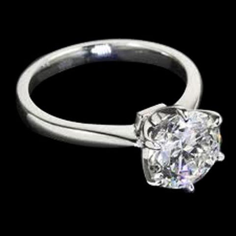 Platinum F Vs1 Round 1.25 Ct Diamond Solitaire Ring Prong Setting Solitaire Ring