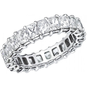 Princess Cut Diamond Eternity Eternity Band Ring Gold 14K Eternity Band
