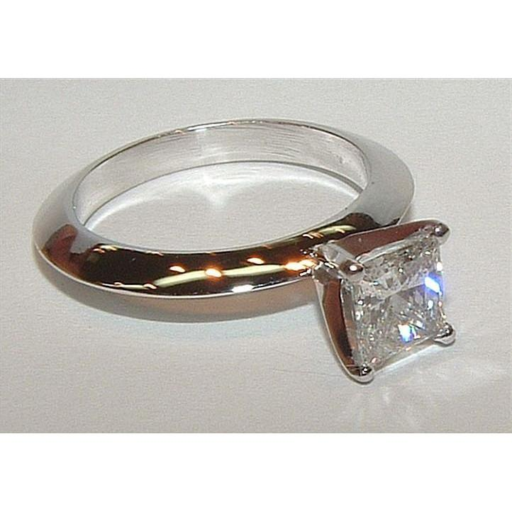 Princess Cut Diamond Women Solitaire Ring White Gold 1 Carat Solitaire Ring