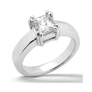 Princess Cut Ring 0.75 Ct. Sparkling Diamond Gold New Ring