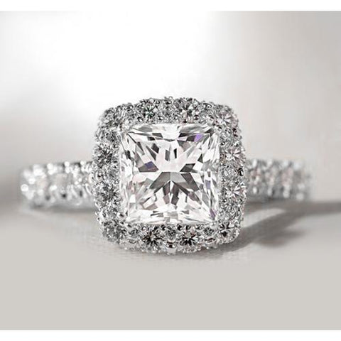 Princess Halo Diamond Ring Halo Ring