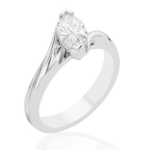 Prong Set 1.75 Ct Marquise Cut Diamond Wedding Solitaire Ring White Gold 14K Solitaire Ring