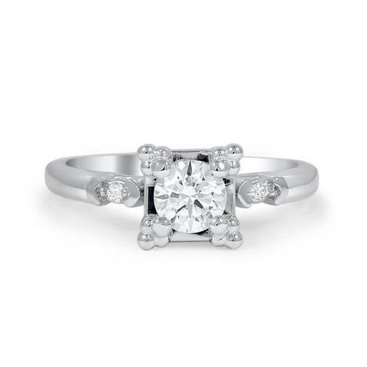 Prong Set 1.85 Carats Round Brilliant Cut Diamond Engagement Ring Engagement Ring