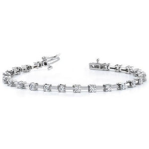 Prong Set 3 Carats Round Diamond Tennis Bracelet Women Gold Jewelry Tennis Bracelet