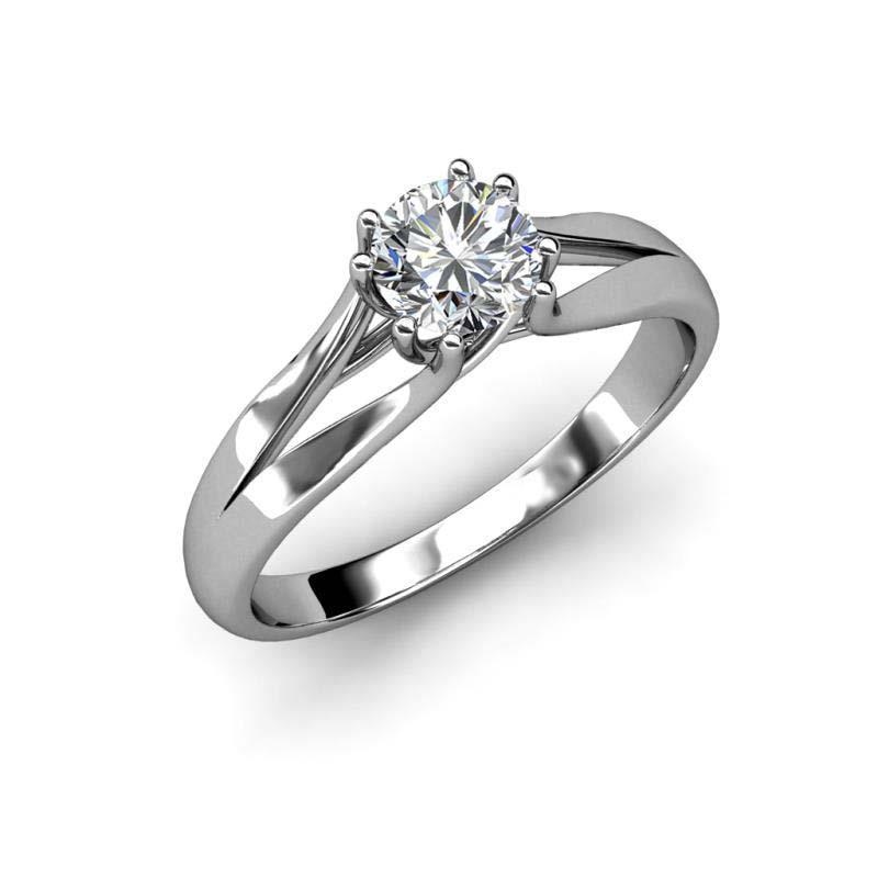 Prong Set Brilliant Cut 1.75 Ctt Diamond Engagement Ring White Gold Solitaire Solitaire Ring