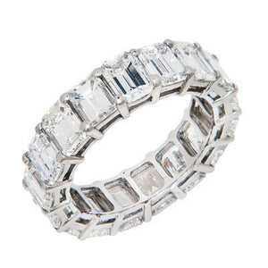Prong Set Emerald Cut Diamond Eternity Band 8.5 Carats Eternity Band