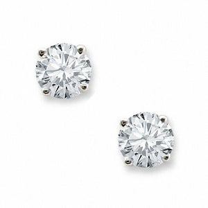 Prong Set Man Made Diamond 3 Carats Stud Earring White Gold Jewelry Stud Earrings