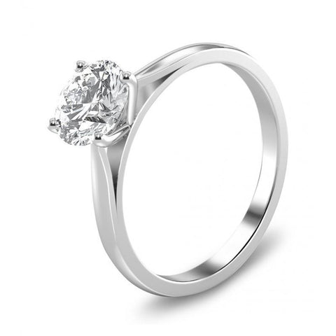 Prong Set Sparkling Round 2.25 Ct Diamond Anniversary Solitaire Ring Solitaire Ring