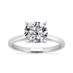 Prong Setting 1.51 Carat Round Brilliant Diamond Solitaire Ring G Vs1 Solitaire Ring