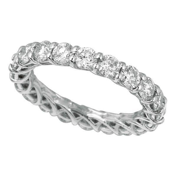 Prong Setting 3.50 Carat Round Diamond Eternity Ring Band Solid Gold 14K Ring