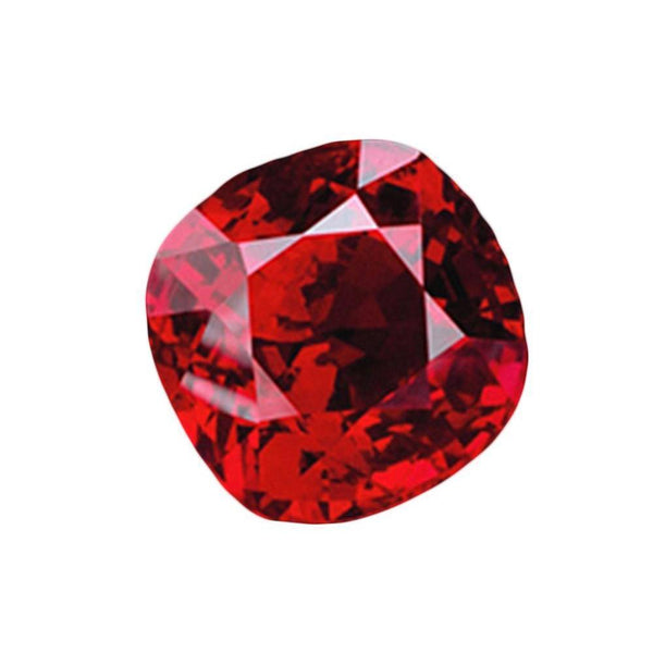 Red Loose Ruby Si Cushion Cut 3 Carat Sparkling Loose Gemstone Loose
