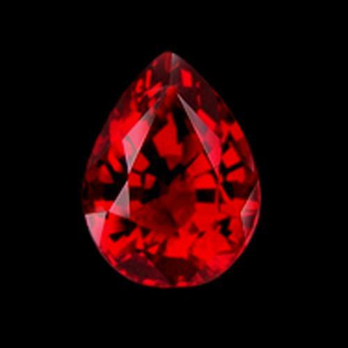 Red Loose Ruby Si Pear Cut 1.5 Carat Sparkling Loose Ruby Gemstone Loose
