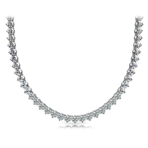 Riviera Diamond 15.00 Carats Tennis Necklace White Gold 14K New Jewelry Necklace