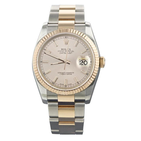 Rolex Datejust Two Tone Men Watch Yellow Gold Rolex