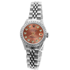 Rolex Diamond Dial Bezel Jubilee Ss Bracelet Datejust Women Watch Rolex