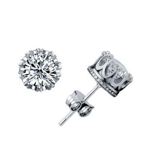 Round Brilliant Cut 2.50 Ct Diamonds Women Studs Earring White Gold Stud Earrings