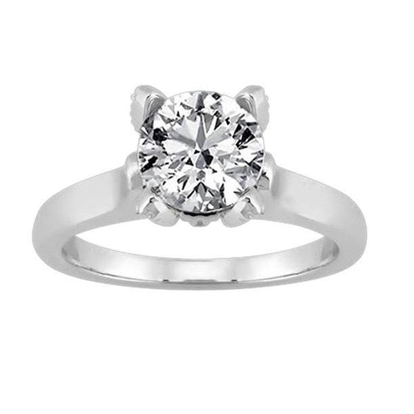 Round Brilliant Diamond Solitaire Ring 2 Carat New Four Prong Solitaire Ring
