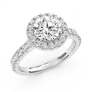 Round Cut 3.50 Ct Diamonds Wedding Halo Ring White Halo Ring
