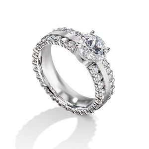 Round Cut 4.70 Carats Diamond Engagement Women Ring White Gold 14K Engagement Ring