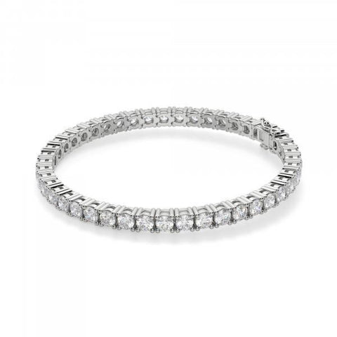 Round Cut 8.8 Carats D/E Vvs1/Vvs2 Diamonds Tennis Bracelet White Gold Tennis Bracelet