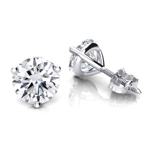 Round Cut Diamond Stud Earring 1.50 Carats White Gold Stud Earrings