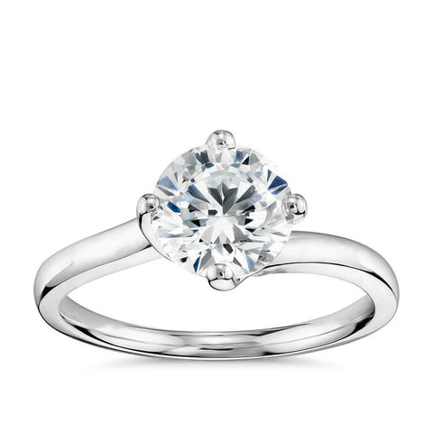 Round Cut Solitaire Diamond Wedding Lady Men Ring White Gold 14K Solitaire Ring