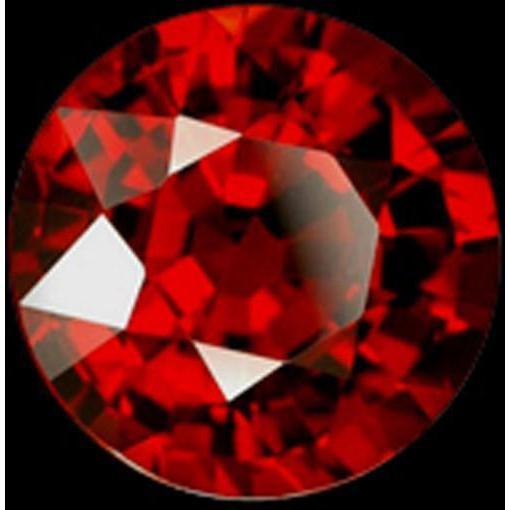 Round Cut Sparkling Loose 0.75 Carat Si Red Loose Ruby Gemstone Loose