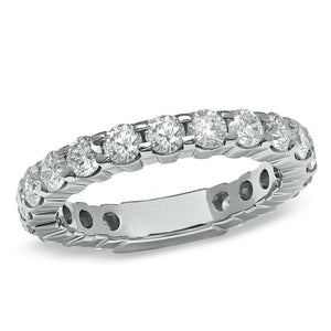 Round Diamond 3 Carats Wedding Band Ring White Gold Jewelry New Eternity Band