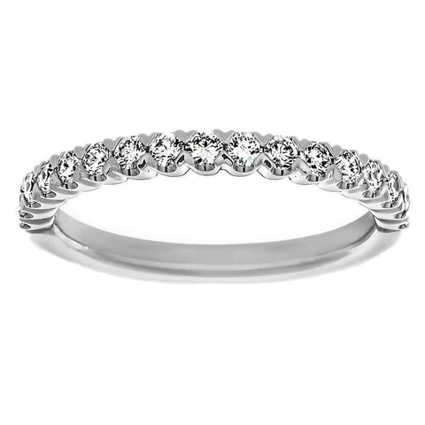 Round Diamond Half Eternity Anniversary Wedding Band White Gold 3 Ct. Eternity Band