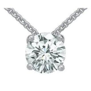 Round Diamond Jewelry Pendant Necklace 2.50 Ct Diamond Pendant