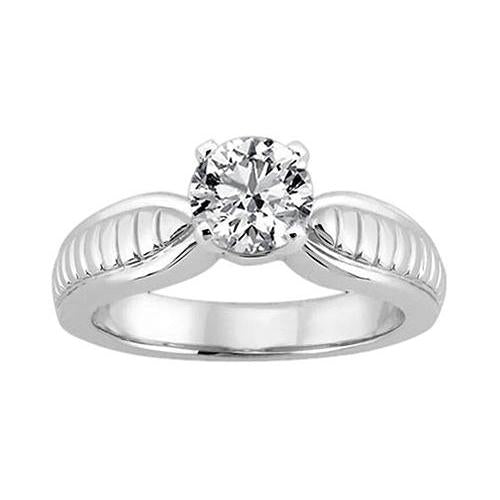 Round Diamond Solitaire Ring Jewelry Gold 2.5 Carat Solitaire Ring