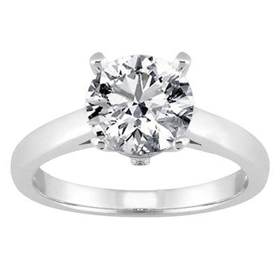 Round Diamond Solitaire Women Engagement Ring White Gold 3 Ct. Solitaire Ring